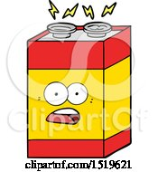 Cartoon Shocked Battery