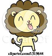 Happy Cartoon Lion by lineartestpilot