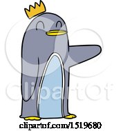 Cartoon Emperor Penguin by lineartestpilot