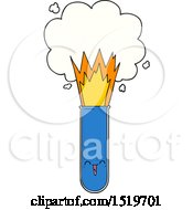 Cartoon Exploding Chemicals In Test Tube