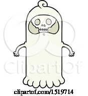 Cartoon Spooky Skull Ghost