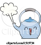 Cartoon Boiling Kettle by lineartestpilot