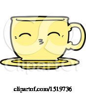 Cartoon Tea Cup by lineartestpilot