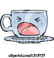 Cartoon Shouting Tea Cup by lineartestpilot