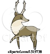 Cartoon Stag by lineartestpilot
