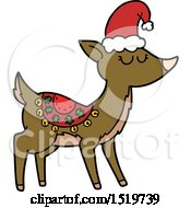 Cartoon Reindeer by lineartestpilot