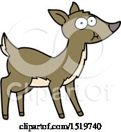 Cartoon Deer by lineartestpilot