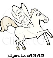 Poster, Art Print Of Cartoon Winged Horse