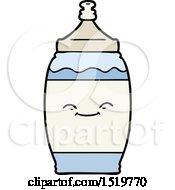 Cartoon Happy Water Bottle by lineartestpilot