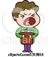Cartoon Furious Man by lineartestpilot