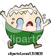 Humpty Dumpty Cartoon Egg Man Crying
