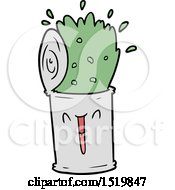 Cartoon Happy Exploding Soup Can