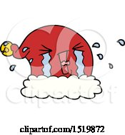 Cartoon Christmas Hat Crying