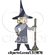 Cartoon Witch by lineartestpilot