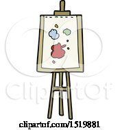 Cartoon Painting Easel by lineartestpilot