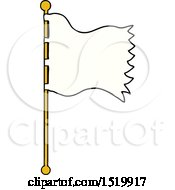 Cartoon Waving Flag by lineartestpilot
