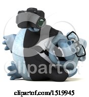 Clipart Of A 3d White Business Monkey Yeti Holding A Camera On A White Background Royalty Free Illustration