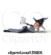 Clipart Of A 3d Sexy Blue Witch Holding A Tooth On A White Background Royalty Free Illustration