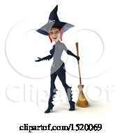 Clipart Of A 3d Sexy Blue Witch On A White Background Royalty Free Illustration by Julos
