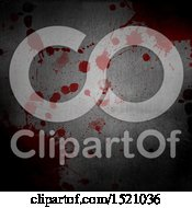 Clipart Of A Blood Splatters On Metal Background Royalty Free Illustration