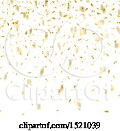 Clipart Of A Golden Confetti Party Background Royalty Free Vector Illustration