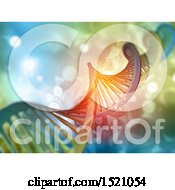 Clipart Of A 3d Dna Strand Background Royalty Free Illustration