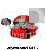 Clipart Of A 3d Red Car Holding A Camera On A White Background Royalty Free Illustration by Julos