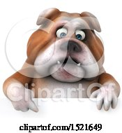 Clipart Of A 3d Bulldog On A White Background Royalty Free Illustration