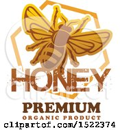 Clipart Of A Honeycomb And Bee Design With Text Royalty Free Vector Illustration