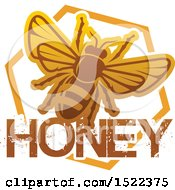 Clipart Of A Honeycomb And Bee Design Royalty Free Vector Illustration by Vector Tradition SM