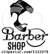 Black And White Barber Shop Design