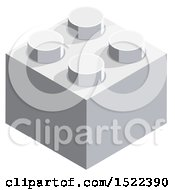 Clipart Of A 3d Isometric Block Icon Royalty Free Vector Illustration