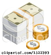 3d Isometric Money Icon