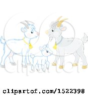 Clipart Of A Goat Family Royalty Free Vector Illustration by Alex Bannykh
