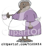 Clipart Of A Black Woman Holding A Cup Of Tea Royalty Free Vector Illustration