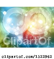 Clipart Of A Background Of Connections And Dots Royalty Free Illustration