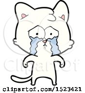 Cartoon Crying Cat by lineartestpilot
