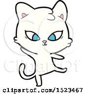 Cute Cartoon Cat by lineartestpilot