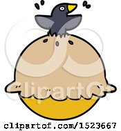Cartoon Blackbird In A Pie by lineartestpilot