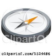 Clipart Of A 3d Isometric Icon Of A Compass Royalty Free Vector Illustration by beboy