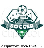Green And White Soccer Design