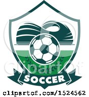 Clipart Of A Green And White Soccer Design Royalty Free Vector Illustration by Vector Tradition SM