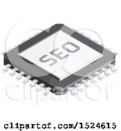 3d Isometric SEO Chip Icon