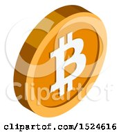 Clipart Of A 3d Isometric Bitcoin Icon Royalty Free Vector Illustration by beboy
