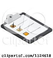 3d Isometric Clipboard Checklist Icon