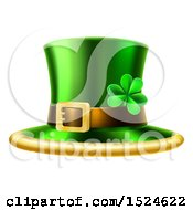 Clipart Of A St Patricks Day Leprechaun Hat Royalty Free Vector Illustration by AtStockIllustration