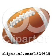 Clipart Of A Brown American Football Royalty Free Vector Illustration by AtStockIllustration