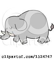 Cartoon Elephant by lineartestpilot