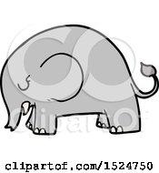 Cute Cartoon Elephant by lineartestpilot