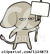 Annoyed Cartoon Elephant